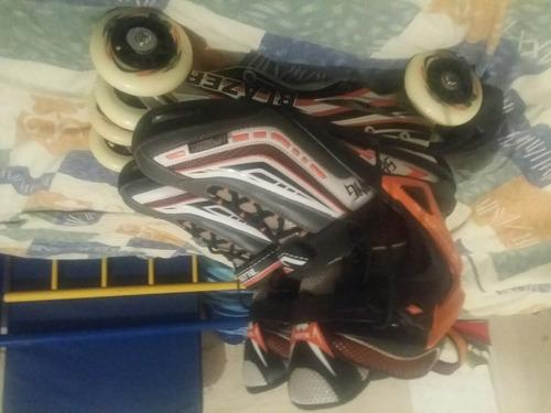 patines blazer riel aluminio talla 28 mx