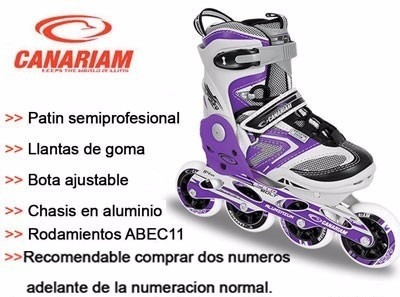 Patines Canariam Patin Semiprofesional Linea Speed Bolt -   230.000 ... 58a4cd550640f