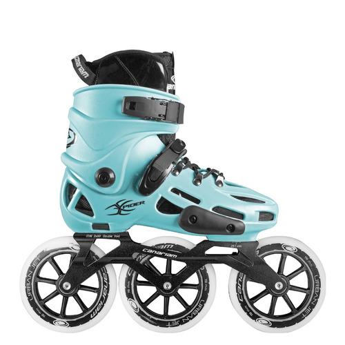 patines canariam xpider azul claro chasis urban ride 3x110