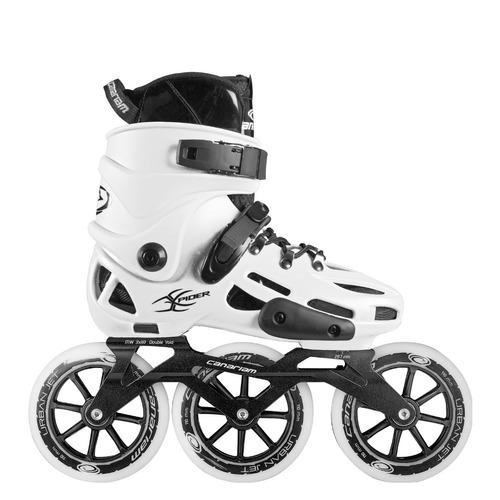 patines canariam xpider blanco chasis urban ride 3x110