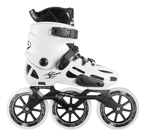 patines canariam xpider blanco chasis urban ride 3x125