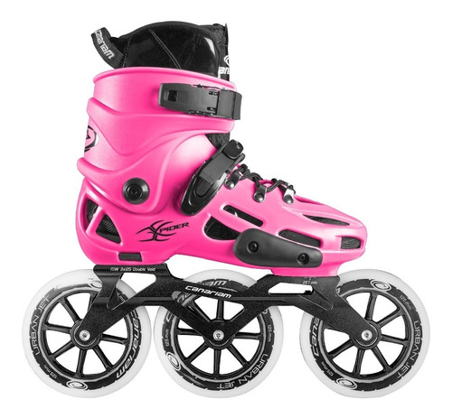 patines canariam xpider fucsia chasis urban ride 3x125