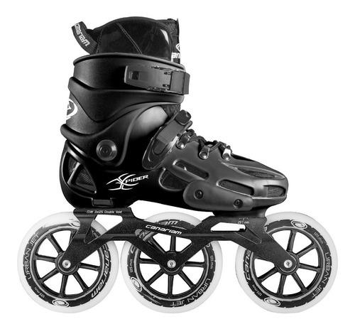 patines canariam xpider negro chasis urban ride 3x125