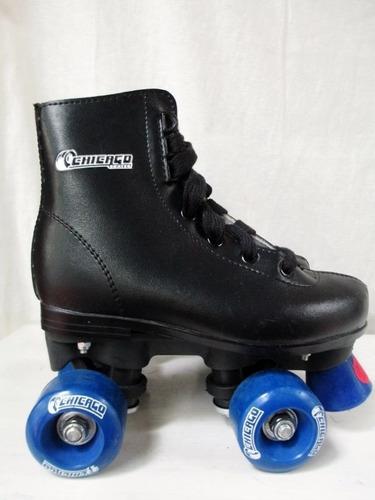 patines chicago patinaje artistico 4ruedas 2lineas foto real