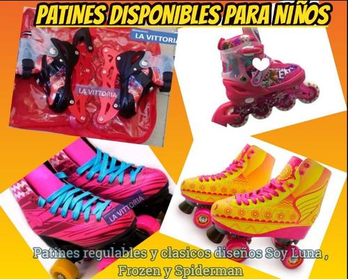 patines clasicos soy luna regulables frozen spiderman 3en1