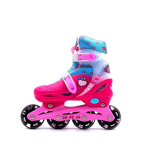 patines con equipo de proteccione hello kitty 100% oficial