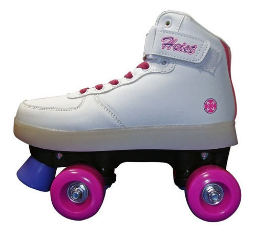 patines con luces nº 34 blanco y rosa heist (1015)