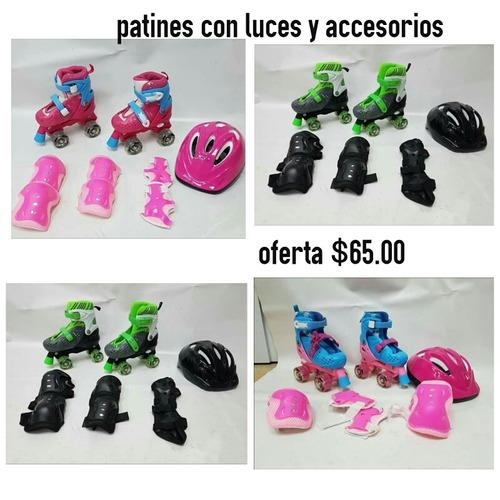 patines con luces y accesorios