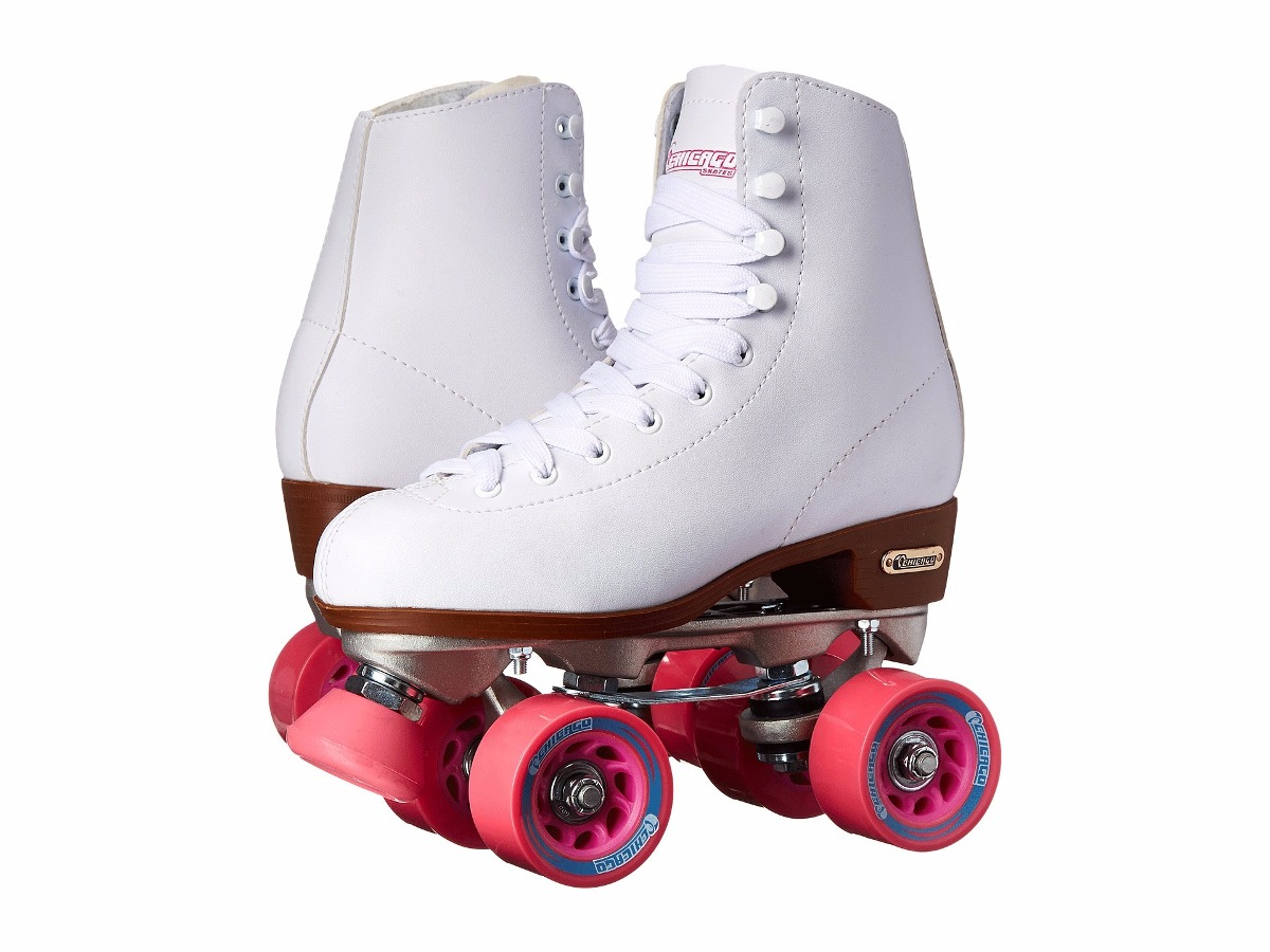 patines de 4 ruedas mujer chicago skates blancos 2 en mercado libre. Black Bedroom Furniture Sets. Home Design Ideas