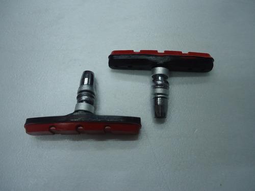 patines de freno eastman v/brake rojo por par - racer bikes