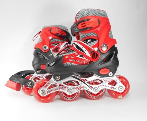 patines de linea llantas en goma niña talla 28-33