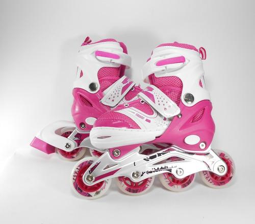 patines de linea semiprofesional niña talla 28-33