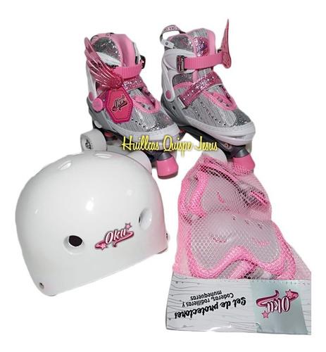 patines de soy luna ambar frozen 4 ruedas con usb