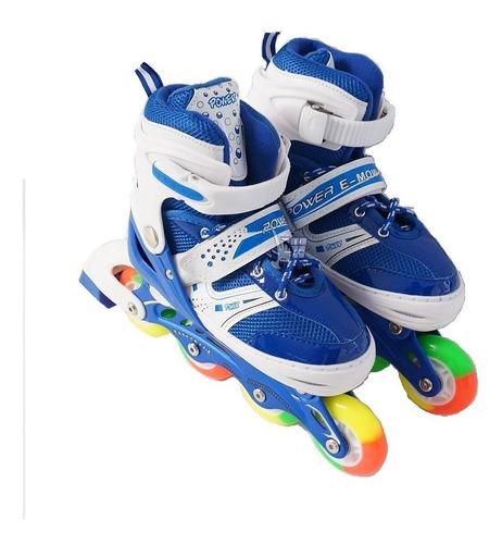 patines en linea ajustables niños (as) kit protección+ envio
