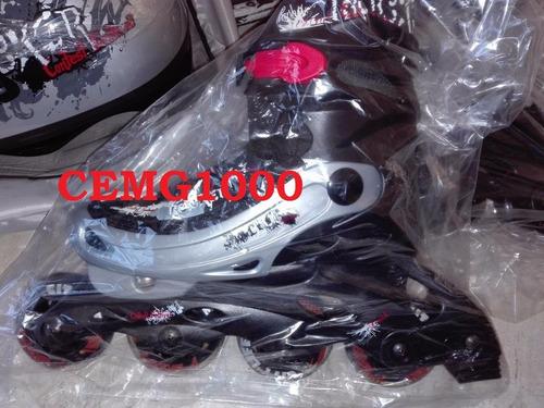 patines en linea combo phx ajustable ruedas de silicon nuevo