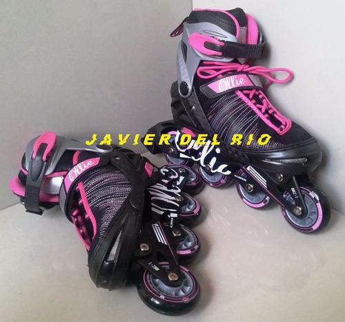 patines en linea fitness ollie, regulable, delivery gratis*