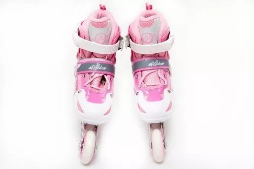 patines en linea niñas ajustable talla 30/33 /3gmarket