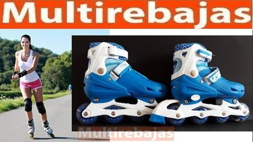 patines en línea talla ajustable 34-35-36 ruedas led