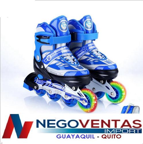 patines lineales con luces varios colores tallas ajustables