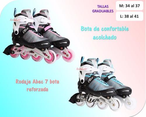 patines lineales llantas con luces led - ollie ¡¡ nuevos!!