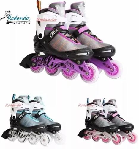 patines lineales llantas con luces led-ollie !nuevos!