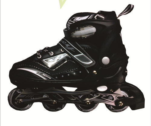 patines lineales mirey + casco + protectores + abec 7