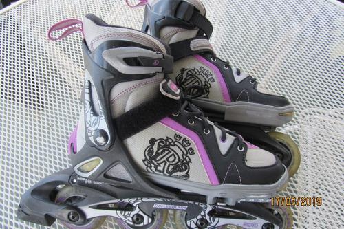 patines lineales rollerblade spitfire para niñas