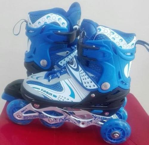 patines lineales talla ajustable con ruedas led