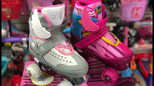 patines logo soy luna 4 ruedas regulables princess aladas