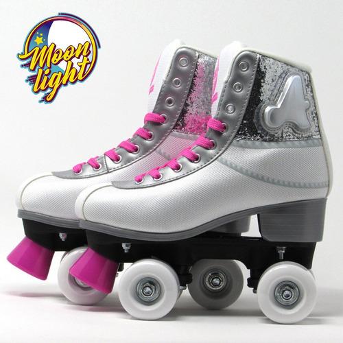 patines moonlight ambar soy luna luz led+spinner env. gratis