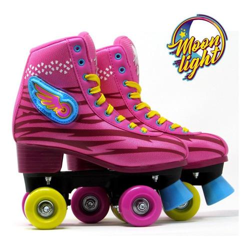 patines moonlight soy luna luz led + spinner. envío gratis