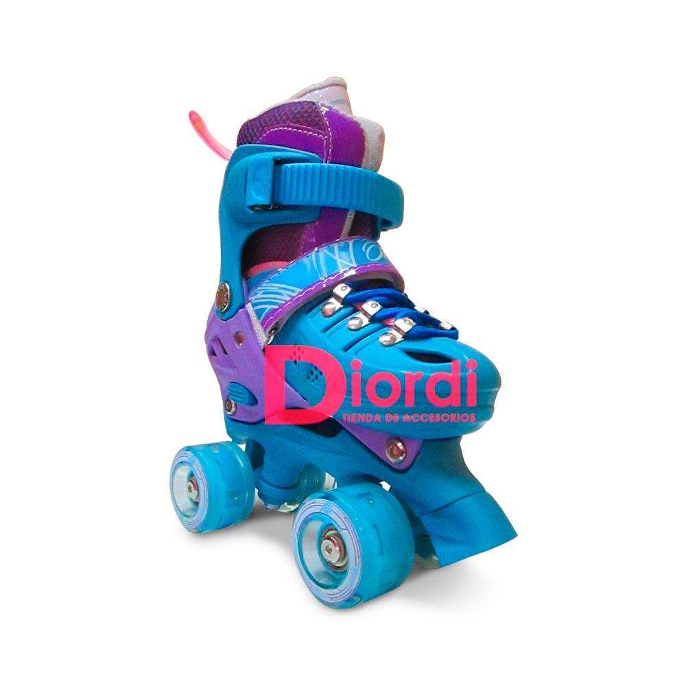 patines ollie 4 ruedas luces quad roller soy luna 34-37