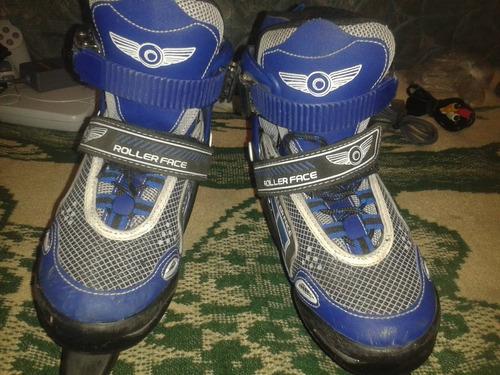 patines para hielo ajustables del 22 al 24 roller face