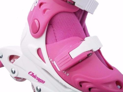 patines patin 2rodillera+2codera+4cono+2guantes azul rosad