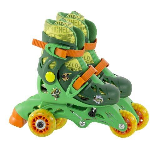 patines playwheels las tortugas ninja tamaño junior 6-9 ver