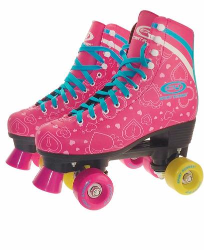 patines prof 4 ruedas julieta talles 32 al 38 color soy luna