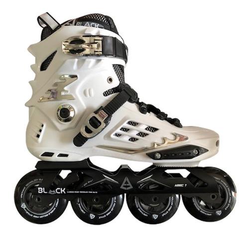 patines profesionales black  freeskate con equipo de proteccion