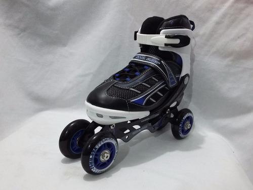 patines quad ajustables rieles de aluminio +regalo +envio