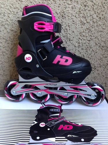 patines recreacional en linea marca hondar color fucsia 127