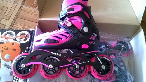 patines recreativos canariam magic black talla 39-41