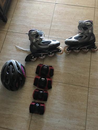 patines rodillera codera y casco todo como nuevo