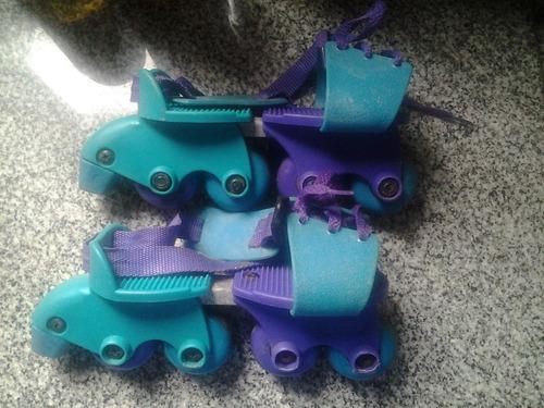 patines rollers 37 38 y otro par ajustables -dos pares-