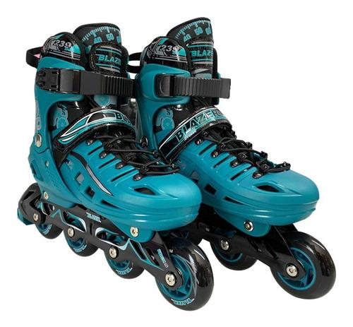 patines semi profesionales ajustables con equipo de proteccion