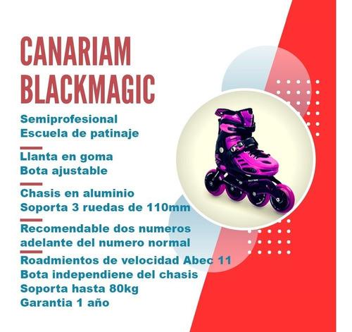 patines semiprofesionales canariam black magic patin linea