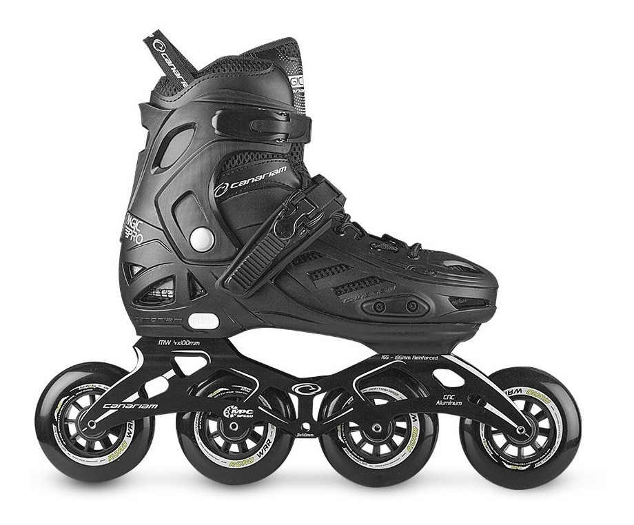 Patines Semiprofesionales Canariam Black Magic Pro Goma