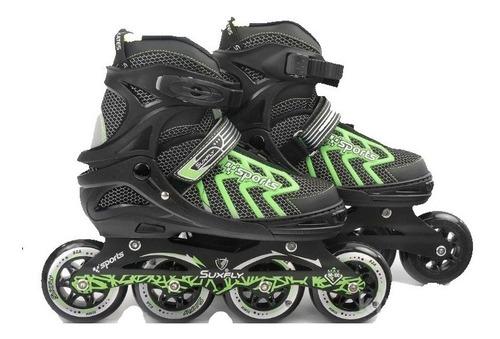 patines semiprofesionales suxfly + protección + casco