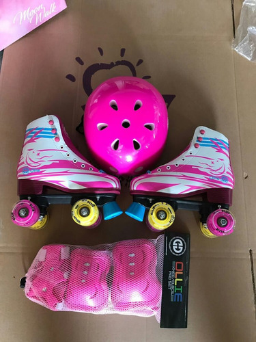 patines sol y luna ollie 36-40 con luces set de prteccion