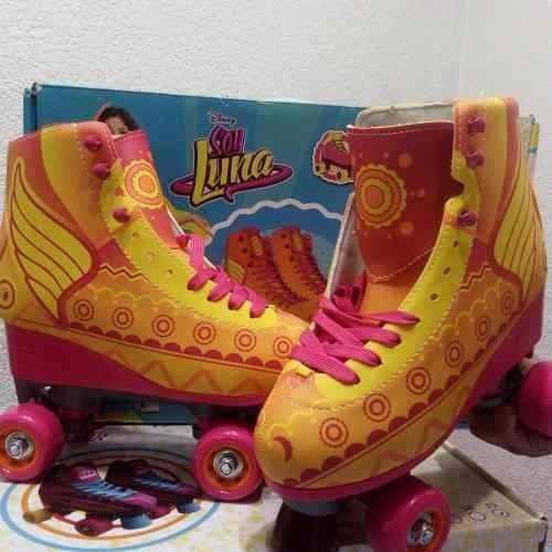 patines soy luna 3.0 rayo de sol diseño exclusivo 36-38