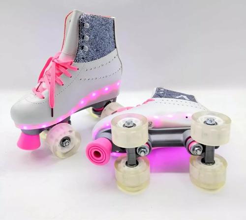 patines soy luna 4 ruedas ambar bota luces incorporadas