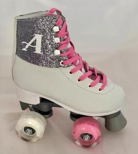 patines soy luna 4 ruedas ambar luces + kit de protección